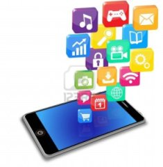 11654830-smart-phone-applications-on-a-white